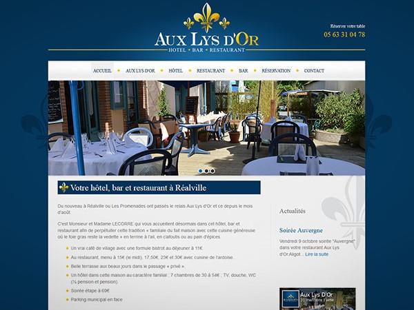 Site internet restaurant à réalville 82