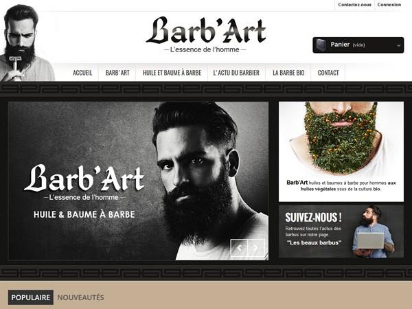 Montauban création du site internet de Barb'Art