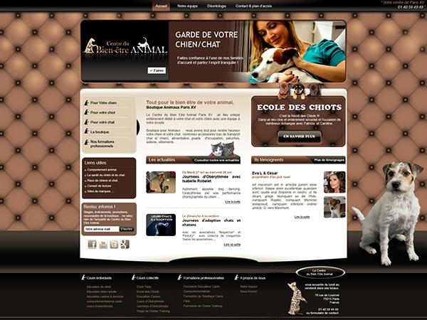 Projet print et web, le centre du bien-être animal sur Paris