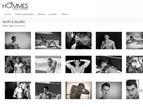 Création du logo et du site internet Hommes made images