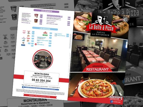 Création de la brchure de janvier 2014 pour le restaurant de Montauban