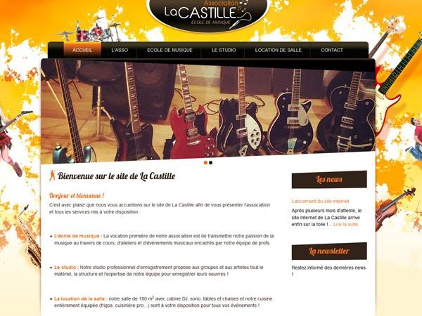 Site internet La Castille école de musique à Buzet sur Tarn