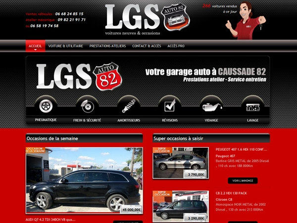 Graphiste logo LGS auto 82 sur Caussade 82