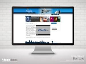 Site internet vitrine d'Elaul à Montauban spécialiste du luminaires de sécurité