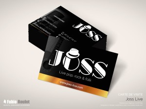Print : Carte de visite Joss musicien à Toulouse