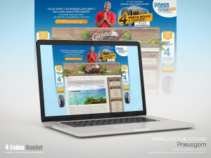 Webmarketing : habillage publicitaire du site guadeloupe.net