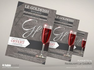 Print : Flyer pour le restaurant Le Goldfish à Golfech