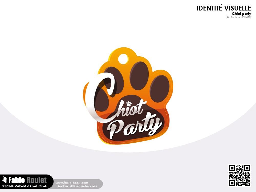 Création du logo de l'activité Chiot Party sur Paris
