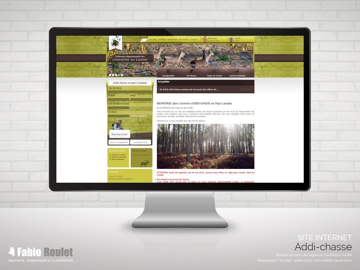 Site internet e-commerce prestashop pour l'achat de permis de chasse