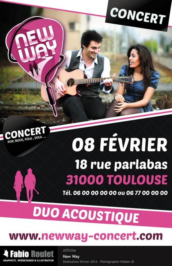 Affiche pour le groupe New Way à Toulouse