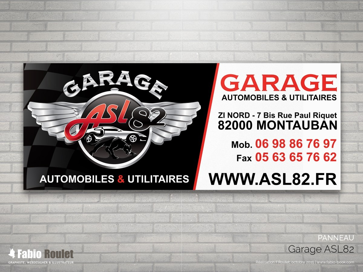 Graphiste montauban site internet du garage asl 82 site web sous drupal - Site internet garage automobile ...