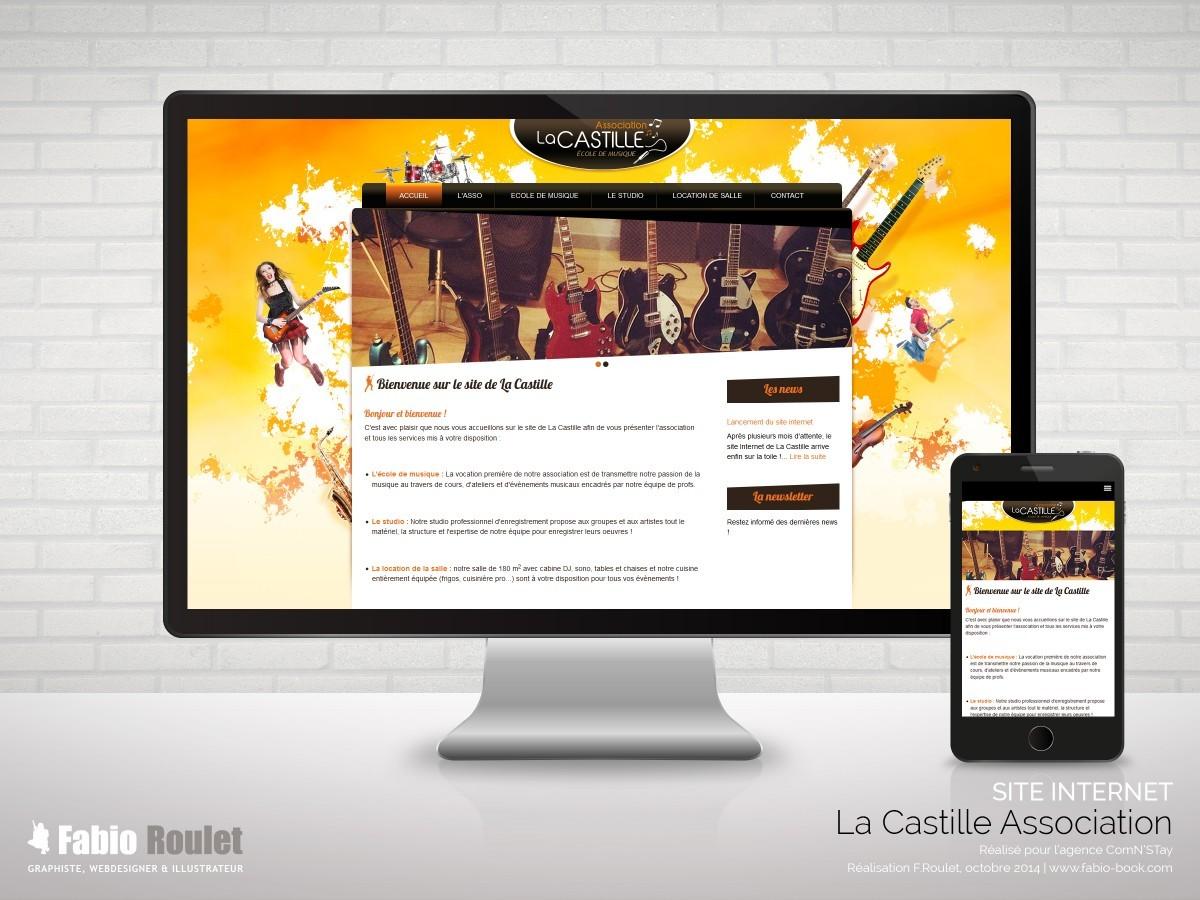 Site internet Drupal responsive de l'association La castille