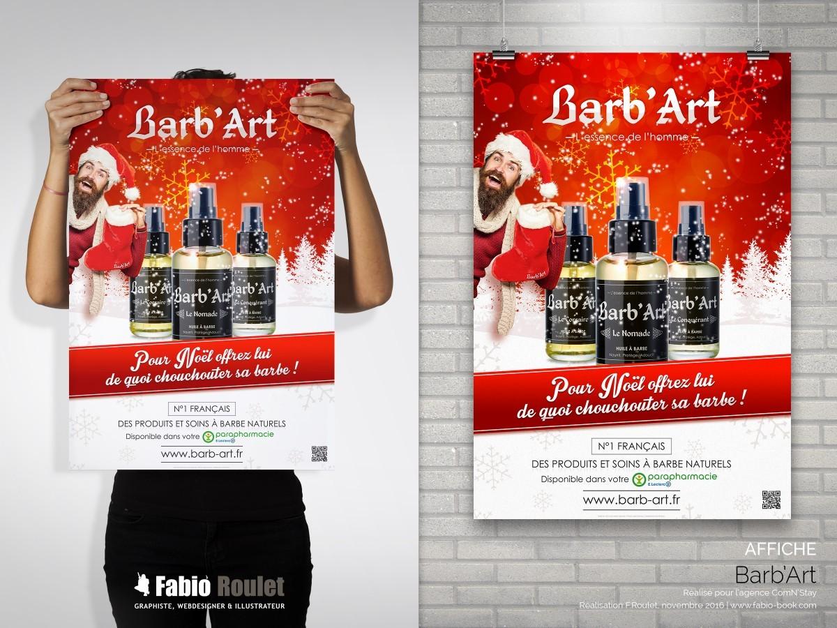 Print : Affiche de noel Barb'art pour leclerc à Montauban