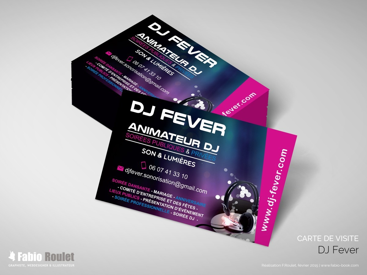 Carte De Visite Dj Animation PL77