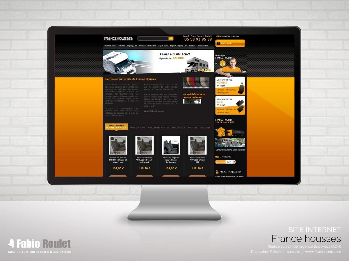 Site internet de vente de housses pour voiture en ligne