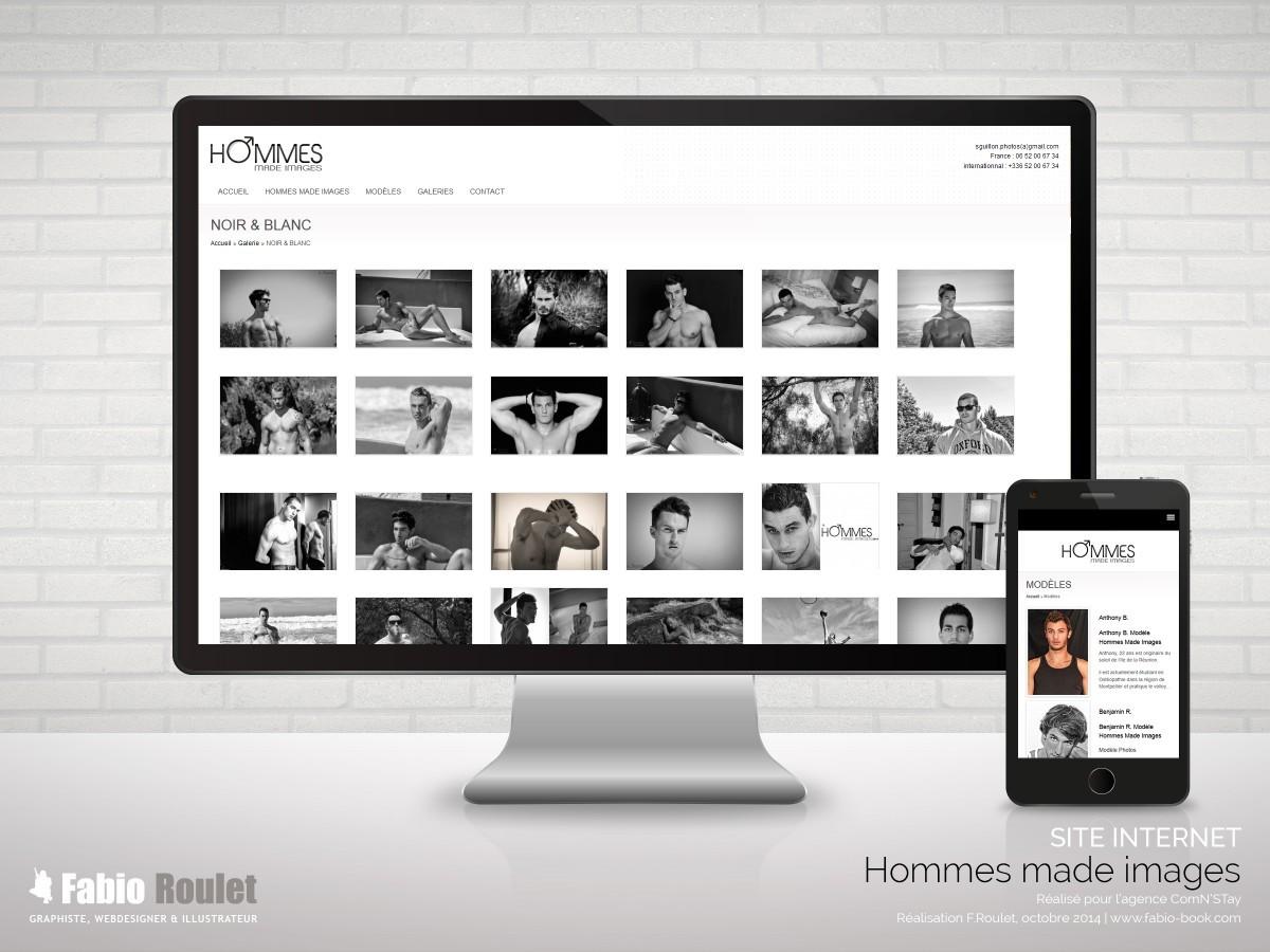 Site internet responsive du photographe à Montpellier