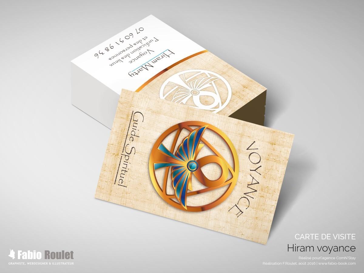 Carte de visite Hiram voyance à Montauban