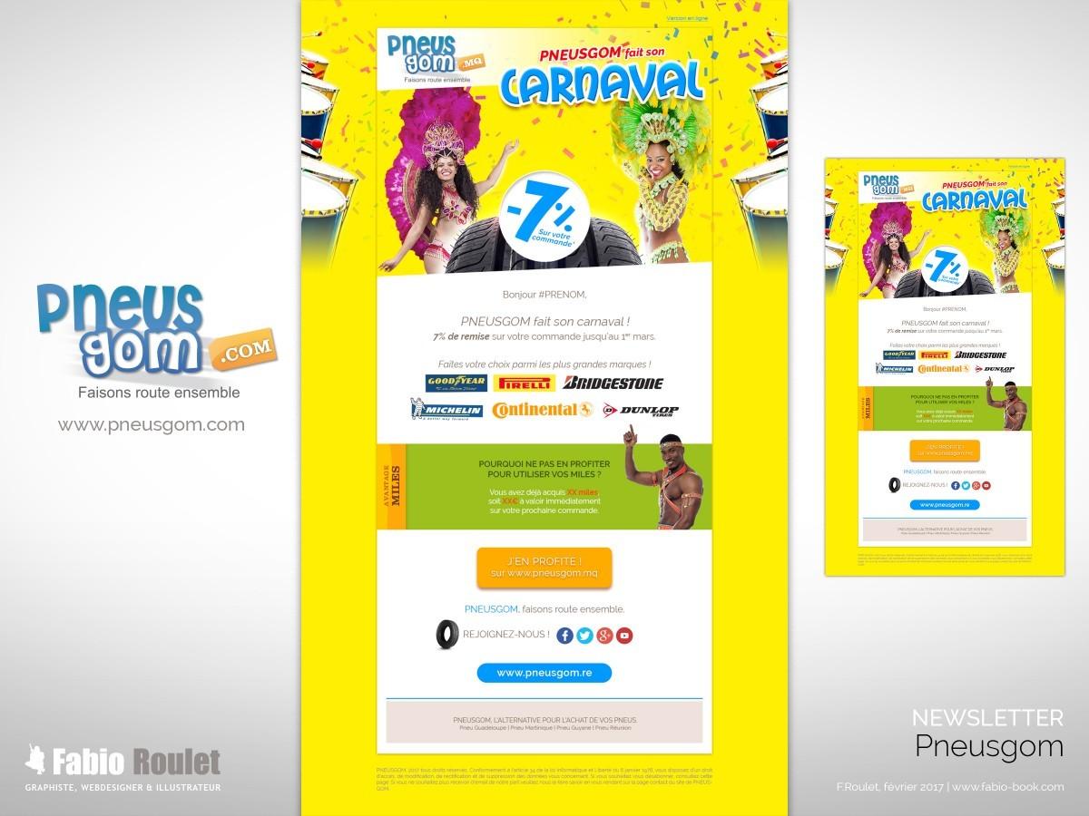 Webmarketing : Newsletter Carnaval 2017