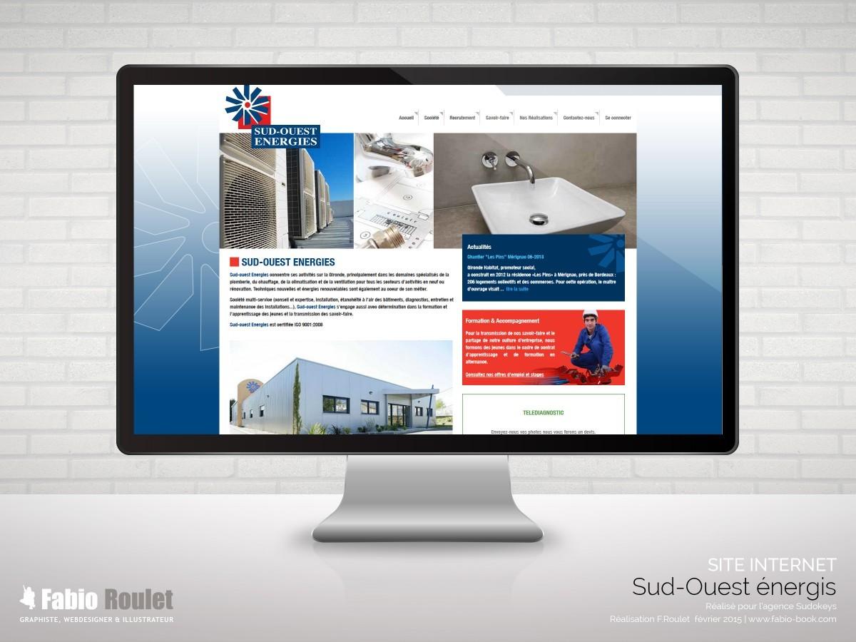 Site internet sous Odoo réalisé pour l'agence Sudokeys